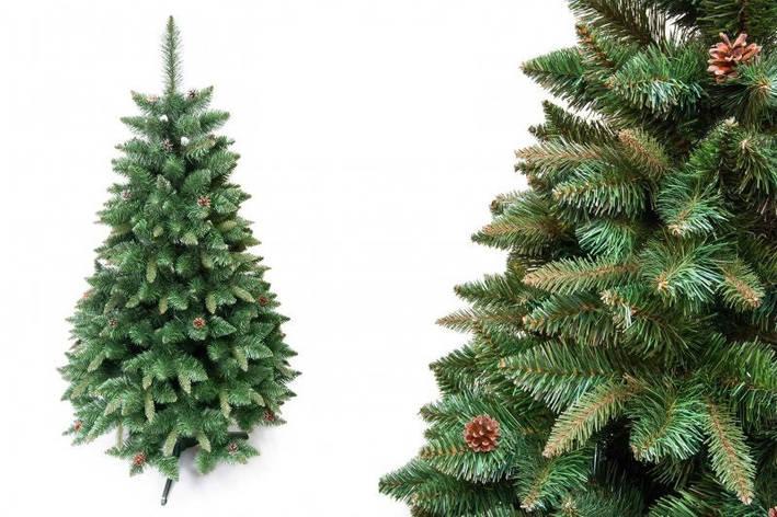"""Сосна """"Натуральная"""" на пластиковой подставке + гирлянда в подарок, фото 2"""