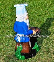 Садовая фигура Гном у барбекю, фото 3