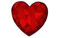 Подушка-сердце 3D Алый Рубин подарок на день рождения