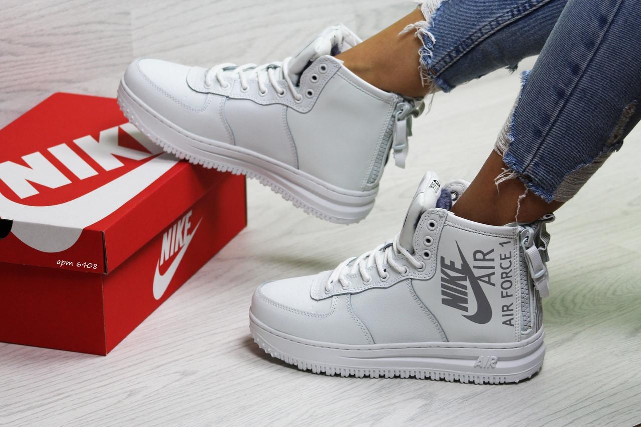 0a333a4e Женские Зимние Кроссовки Белые Nike Air Force 6408 — в Категории ...