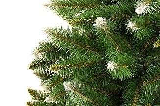 Алмазная искусственная новогодняя елка на натуральном стволе 160 см + гирлянда в подарок, фото 2
