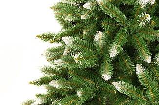 Искусственная новогодняя елка на натуральном стволе 220 см + гирлянда в подарок, фото 2
