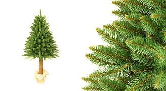 Искусственная новогодняя елка на натуральном стволе 160 см + гирлянда в подарок, фото 2