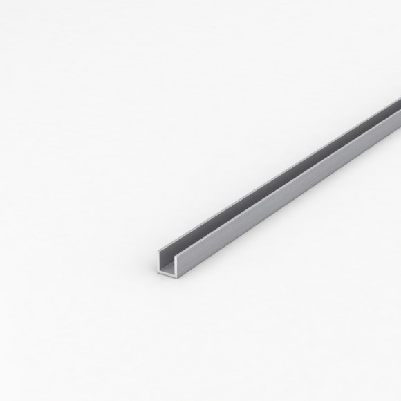 Алюмінієвий швелер шириною 12мм висотою 12мм товщина стінки 1,5мм без покриття