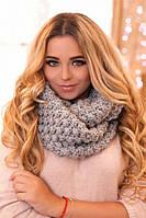 Зимний женский снуд «Сара» Светло-серый