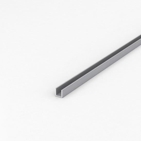 Алюмінієвий швелер шириною 12мм висотою 12мм товщина стінки 1,5мм анодований