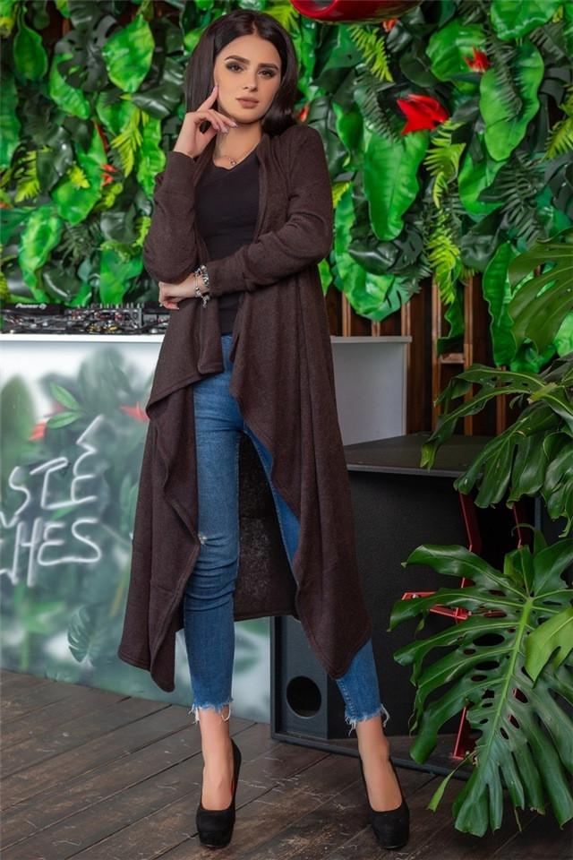 Женский кардиган, цвет - Шоколад (141)690-4. (4 цвета) Ткань: ангора. Размеры: 44-46, 48-50, 52-54.