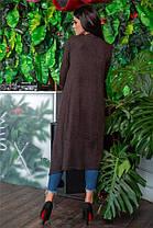 Женский кардиган, цвет - Шоколад (141)690-4. (4 цвета) Ткань: ангора. Размеры: 44-46, 48-50, 52-54., фото 3