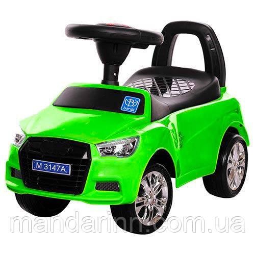 Каталка- толокар M 3147A(MP3)-5 зеленый