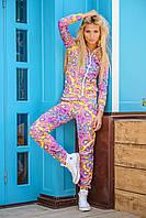 Женский разноцветный спортивный костюм