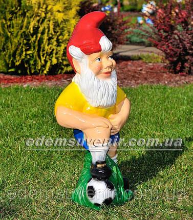Садовая фигура Гном футболист, фото 2