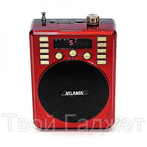 ОПТ/Розница Радиоприемник ATLANFA с USB, SD, FM, громкоговорпителем и диктофоном AT-R31