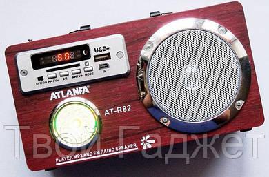 ОПТ/Розница Колонка с USB, SD, FM-приемником ATLANFA AT-R82