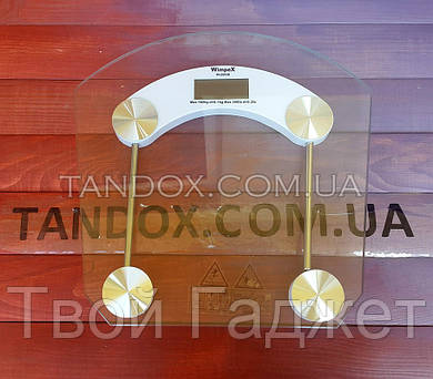 ОПТ/Розница Цифровые напольные весы квадратные прозрачные до 180 кг толщина 6 мм 2003B