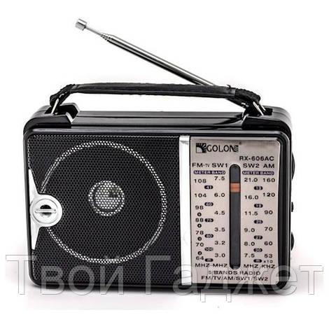ОПТ/Розница Радиоприемник от сети с пятью волнами GOLON A606AC