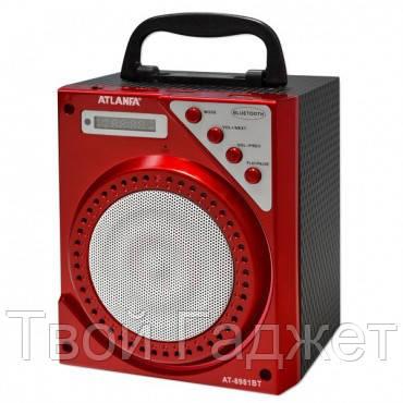 ОПТ/Розница Колонка Bluetooth с USB, SD, FM-приемником ATLANFA AT-8981 красная