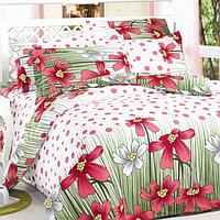 Комплект постельного белья Уютная Жизнь Двуспальный 180x215 Розовая поляна  в горох V2 ad64a8d9c8da5