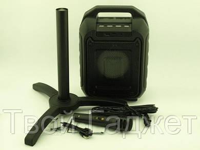 ОПТ/Розница Колонка-чемодан активная с Bluetooth/USB/SD/FM/AUX, караоке, светомузыкой  +стойка B315-B