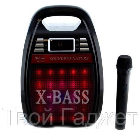 ОПТ/Розница Акустическая система со светомузыкой, микрофоном, Bluetooth/USB/SD/FM/AUX GOLON RX-810BT