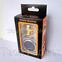 Автомобильный магнитный держатель для телефона и GPS 360 град. CT-690