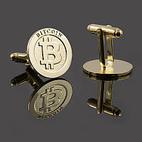 Запонки с логотипом Bitcoin