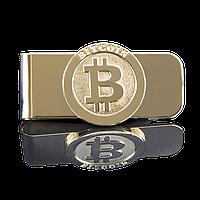 Зажим для денег с логотипом Bitcoin