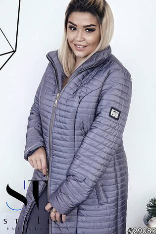 51be7e09874 Женския теплая зимния куртка   пуховик больших размеров цвет серый размер  50 52 54 29085