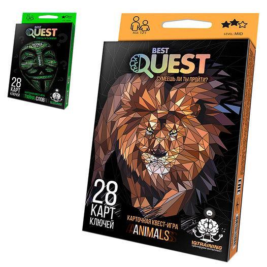 """Карткова квест-гра """"BEST QUEST"""", рос., 28 карт ключів, BQ-01-02"""