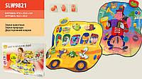 Игровой двусторонний музыкальный коврик SLW 9821 Весёлый автобус / Виртуоз музыкант