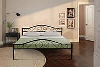 Металлическая двуспальная кровать Релакс 160х200, цвет черный