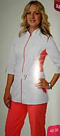 Медицинский костюм  3224  персик (коттон)