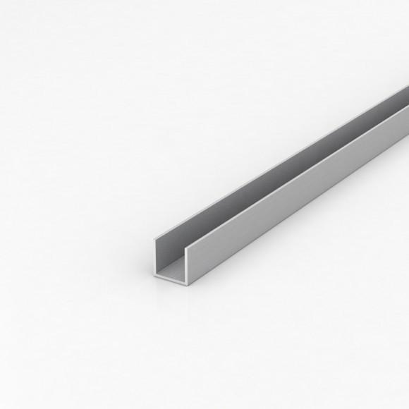 Алюмінієвий швелер шириною 20мм висотою 20мм товщина стінки 2мм анодований