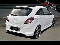 Накладка на задний бампер для Opel Corsa D FL