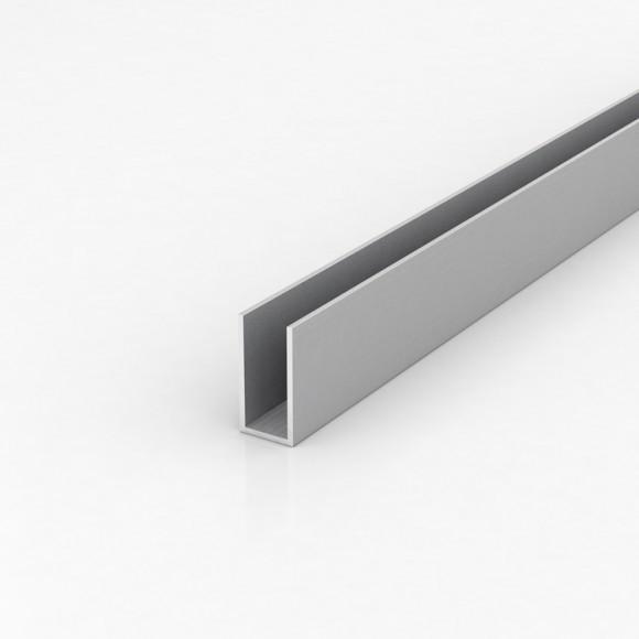 Алюмінієвий швелер шириною 20мм висотою 40мм товщина стінки 2мм анодований
