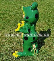 Садовая фигура Гном лягушонок большой, фото 3