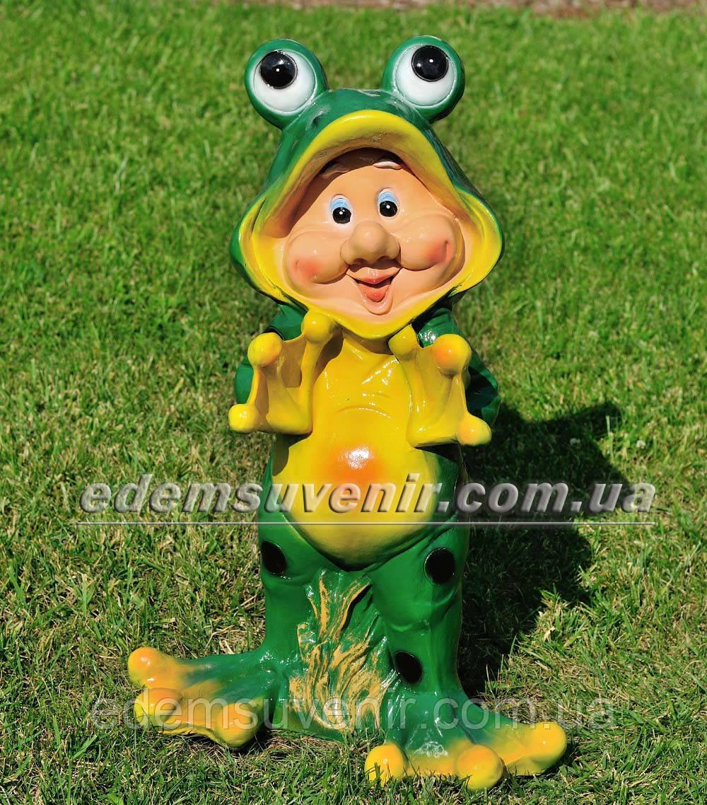 Садовая фигура Гном лягушонок большой