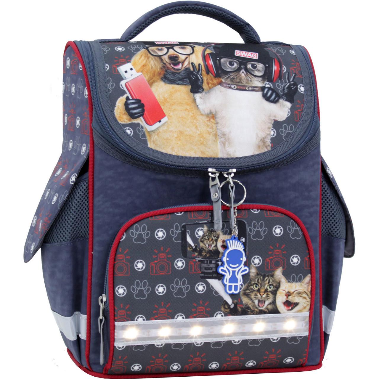 bbe5e660bbff Украина Рюкзак школьный каркасный с фонариками Bagland Успех 12 л. серый  188к (00551703)