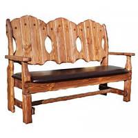 """Деревянная скамейки под старину """"Добряк"""""""
