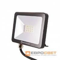 Светодиодный уличный прожектор 10 ватт Евросвет