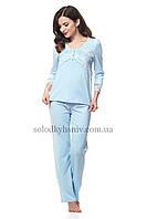 Жіноча Піжама ELLEN зі штанами Голубий Модал 164/007
