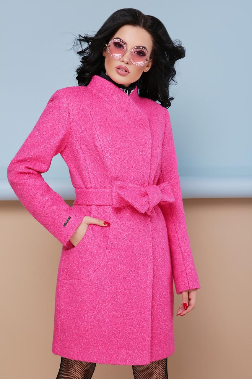 Женское пальто П-308 Цвет малина Размерная сетка:42, 44, 46, 48, 50, 52, 54