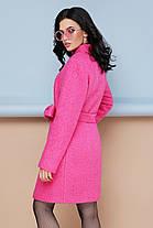 Женское пальто П-308 Цвет малина Размерная сетка:42, 44, 46, 48, 50, 52, 54, фото 2