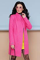 Женское пальто П-308 Цвет малина Размерная сетка:42, 44, 46, 48, 50, 52, 54, фото 3