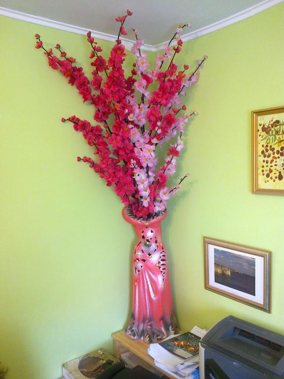 Декорирование искусственными цветами, офис г. Севастополь