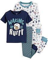 Набор пижам 2 шт. Картерс (Carter's) для мальчика белая и синяя 2Т(88-93 см)