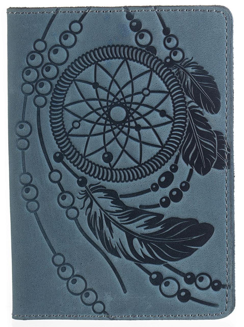 Обкладинка на паспорт SHVIGEL 13795 блакитна