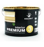 Гипоаллергенная краска Kolorit Family (Interior Premium 3 (Колорит Премиум 3)  2.7 л (База А)
