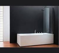 Шторка для ванны koller pool QP93 crome transparent R
