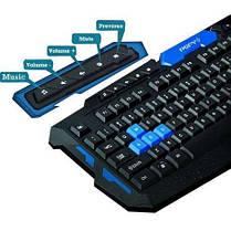 Игровая беспроводная компьютерная клавиатура с мышкой HK-8100 (Комплект), фото 2
