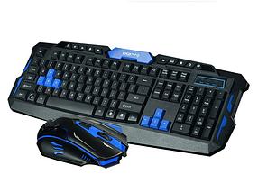 Игровая беспроводная компьютерная клавиатура + мышка HK-8100